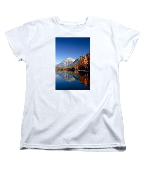 Lake Mcdonald Autumn Women's T-Shirt (Standard Cut) by Lawrence Boothby