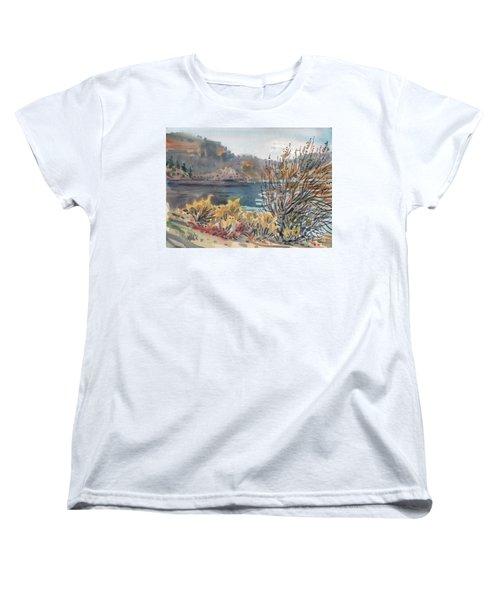 Lake Roosevelt Women's T-Shirt (Standard Cut) by Donald Maier