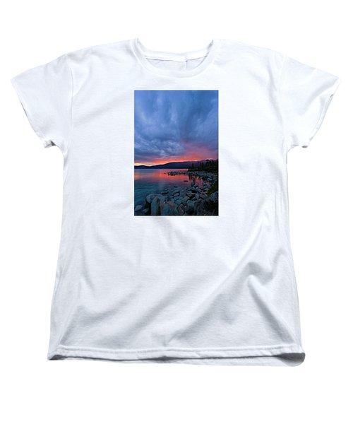 Lake Tahoe Sunset Portrait 2 Women's T-Shirt (Standard Cut)
