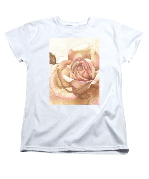 Women's T-Shirt (Standard Cut) featuring the painting Lalique Rose by Sandra Phryce-Jones