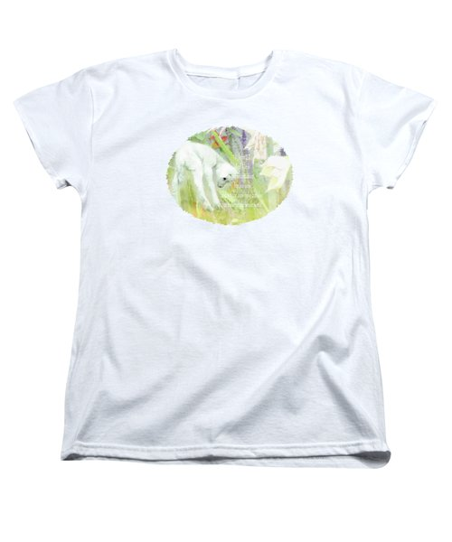 Lamb And Lilies - Verse Women's T-Shirt (Standard Cut) by Anita Faye
