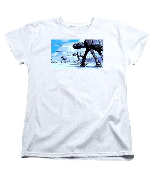 Land Battle Women's T-Shirt (Standard Cut) by George Pedro