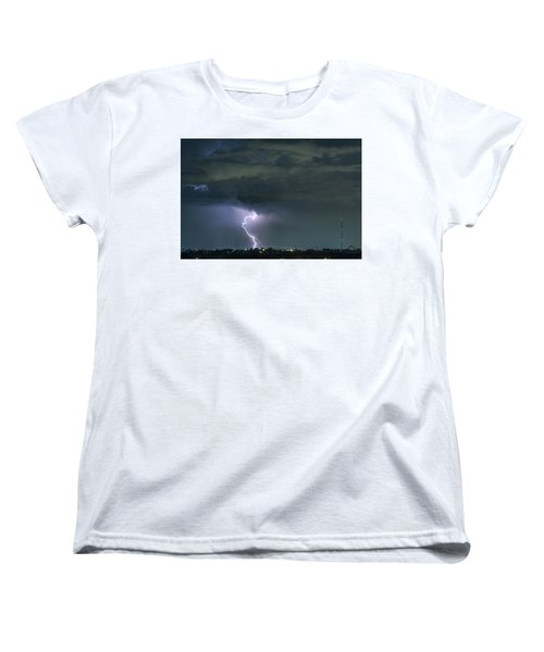 Women's T-Shirt (Standard Cut) featuring the photograph Landing In A Storm by James BO Insogna