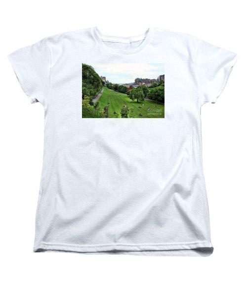 Landscape Edinburgh  Women's T-Shirt (Standard Cut) by Chuck Kuhn