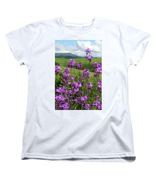 Landscape With Purple Flowers In Virginia Women's T-Shirt (Standard Cut)