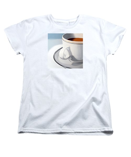 Women's T-Shirt (Standard Cut) featuring the painting Large Coffee Cup by Mark Webster