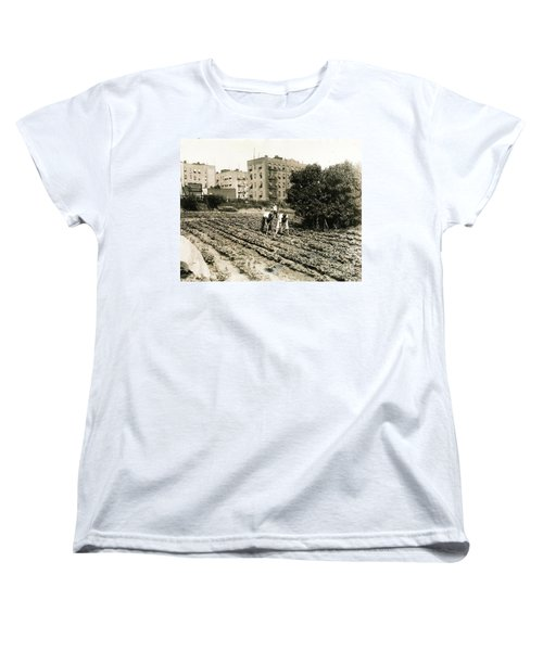 Women's T-Shirt (Standard Cut) featuring the photograph Last Working Farm In Manhattan by Cole Thompson