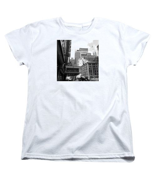 Late Show Nyc Women's T-Shirt (Standard Cut) by Shelley Overton