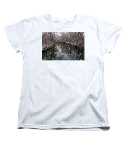 Women's T-Shirt (Standard Cut) featuring the photograph Late Winter In Philly by Dorin Adrian Berbier