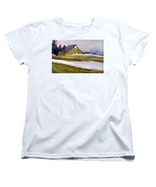 Late Winter Melt Women's T-Shirt (Standard Cut) by Donald Maier