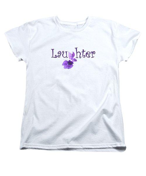 Women's T-Shirt (Standard Cut) featuring the digital art Laughter Shirt by Ann Lauwers