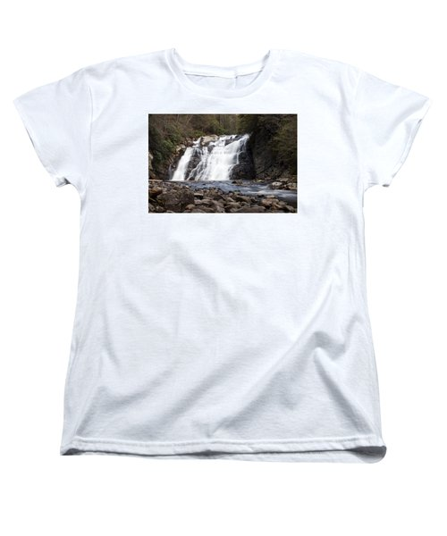 Laurel Falls In Spring #1 Women's T-Shirt (Standard Cut) by Jeff Severson