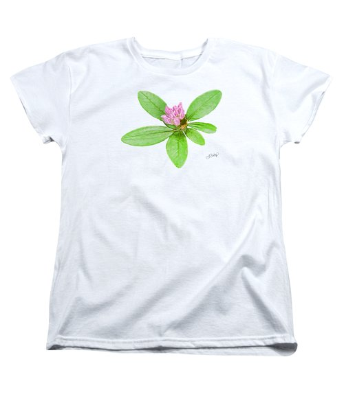 Laurel In Pink Women's T-Shirt (Standard Cut) by Larry Bishop