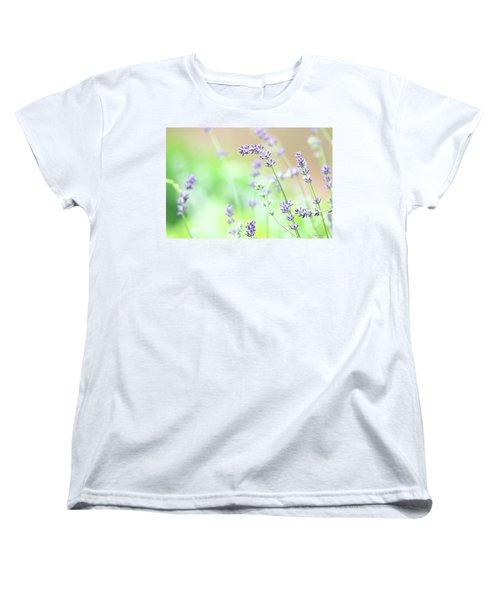 Lavender Garden Women's T-Shirt (Standard Cut) by Trina Ansel