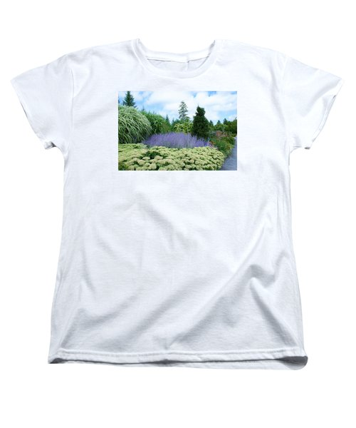 Women's T-Shirt (Standard Cut) featuring the photograph Lavender In The Middle by Lois Lepisto