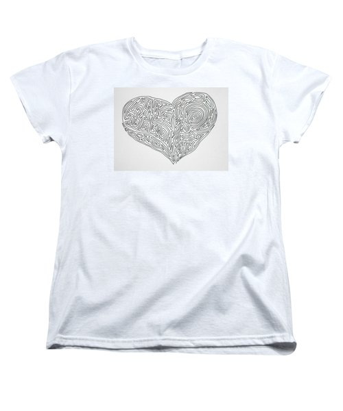 Laying Your Heart On A Line  Women's T-Shirt (Standard Cut) by Vicki  Housel