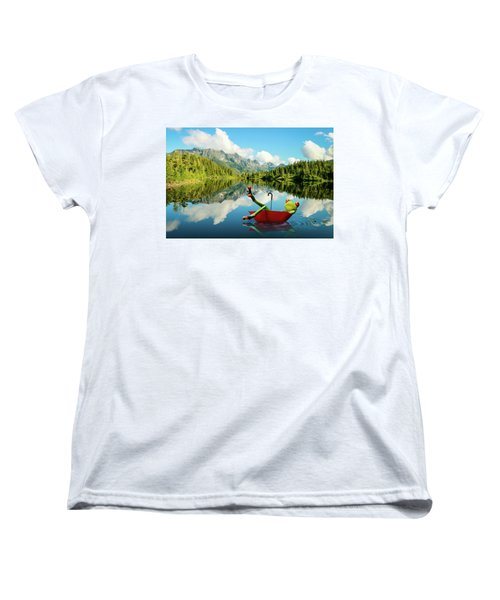 Women's T-Shirt (Standard Cut) featuring the digital art Lazy Days by Nathan Wright
