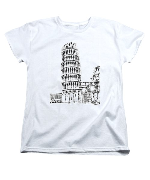 Leaning Tower Of Pisa Women's T-Shirt (Standard Cut) by ISAW Gallery