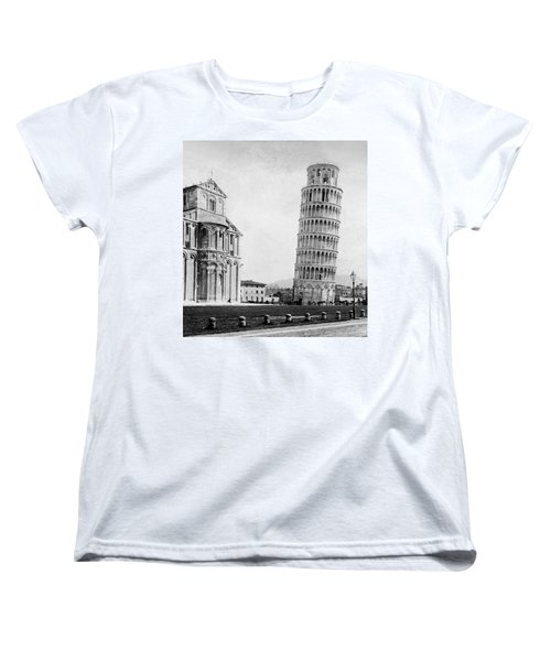 Leaning Tower Of Pisa Italy - C 1902  Women's T-Shirt (Standard Cut) by International  Images