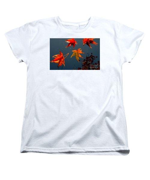 Leaves Falling Down Women's T-Shirt (Standard Cut) by Marie Neder