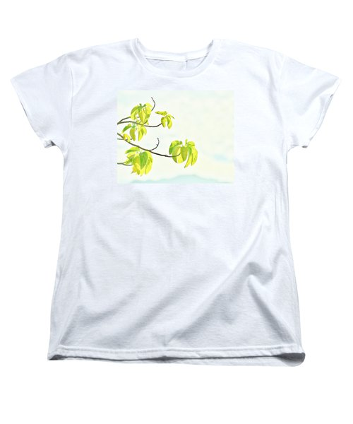 Leaves In The Sun Women's T-Shirt (Standard Cut) by Craig Wood