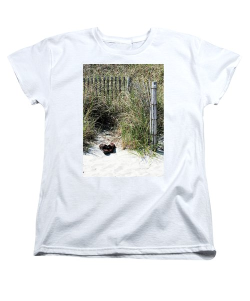 Women's T-Shirt (Standard Cut) featuring the photograph Left Behind by Cathy Harper