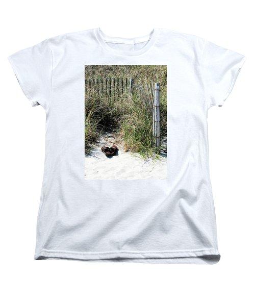 Left Behind Women's T-Shirt (Standard Cut) by Cathy Harper