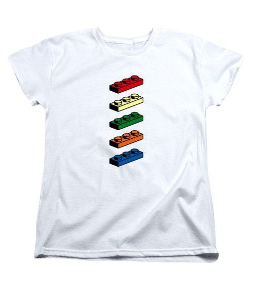 Women's T-Shirt (Standard Cut) featuring the photograph Lego T-shirt Pop Art by Edward Fielding