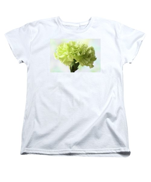 Women's T-Shirt (Standard Cut) featuring the photograph Lemon Carnation by Terence Davis