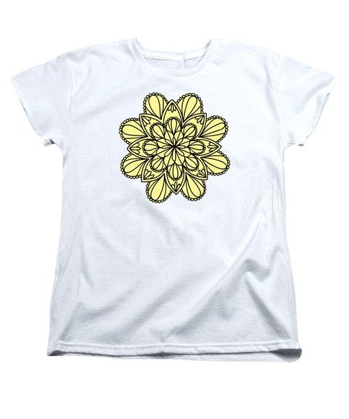 Lemon Lily Mandala Women's T-Shirt (Standard Cut) by Georgiana Romanovna