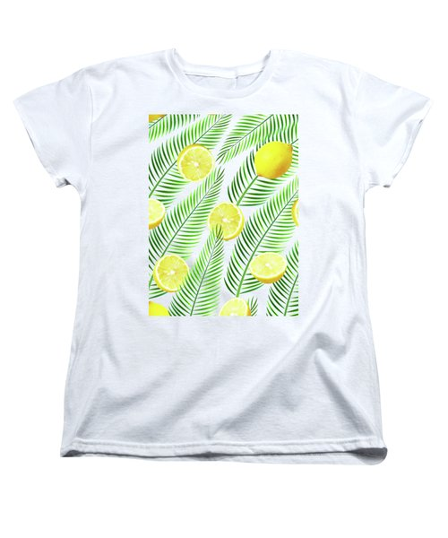 Lemons Women's T-Shirt (Standard Cut) by Uma Gokhale