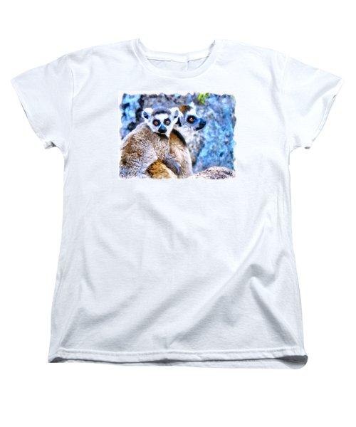 Lemurs Of Madagascar Women's T-Shirt (Standard Cut) by Maciek Froncisz