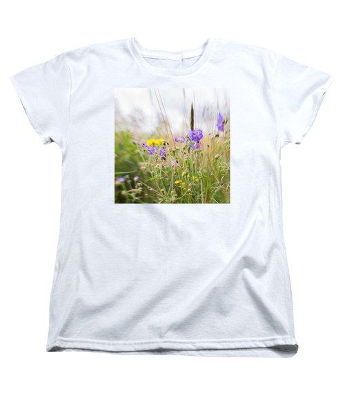 #lensbaby #composerpro #sweet35 #floral Women's T-Shirt (Standard Cut) by Mandy Tabatt