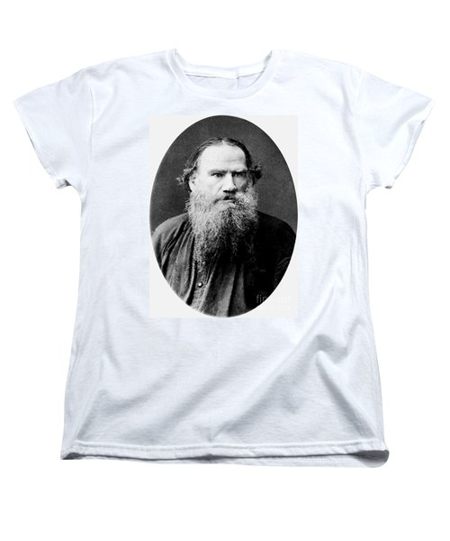 Leo Tolstoy Women's T-Shirt (Standard Cut) by Pg Reproductions