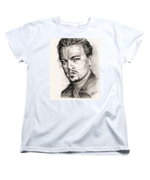 Leonardo Dicaprio Portrait Nr.2 Women's T-Shirt (Standard Cut) by Alban Dizdari