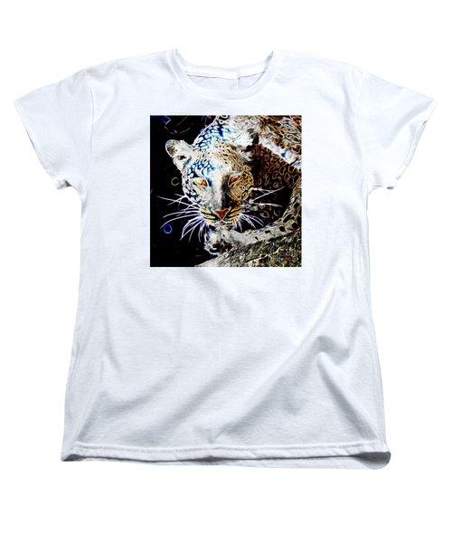 Leopard Women's T-Shirt (Standard Cut) by Zedi