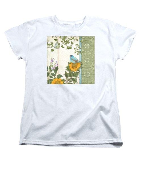 Les Magnifiques Fleurs Iv - Secret Garden Women's T-Shirt (Standard Cut) by Audrey Jeanne Roberts