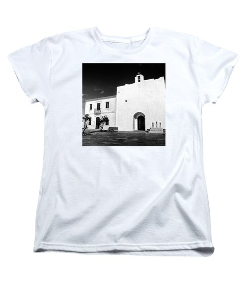 Fortified Church, Formentera Women's T-Shirt (Standard Cut) by John Edwards