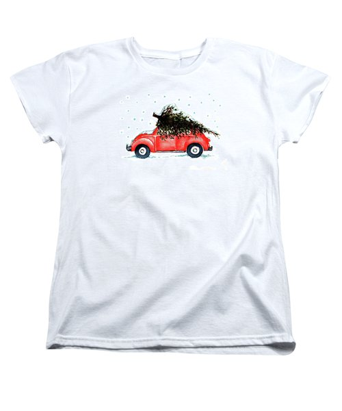 Women's T-Shirt (Standard Cut) featuring the painting Let It Snow by Heidi Kriel