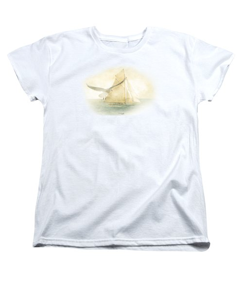 Women's T-Shirt (Standard Cut) featuring the painting Let Your Spirit Soar by Chris Armytage