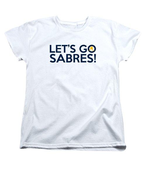 Let's Go Sabres Women's T-Shirt (Standard Cut) by Florian Rodarte