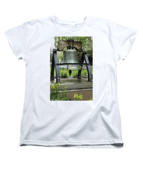 Women's T-Shirt (Standard Cut) featuring the photograph Liberty Bell Replica by Mike Eingle