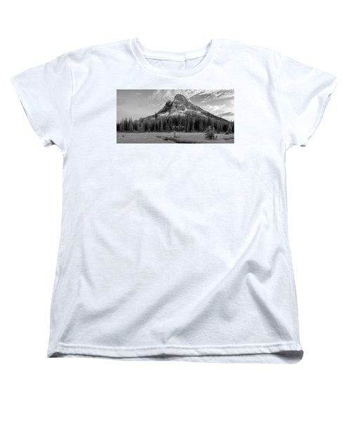 Women's T-Shirt (Standard Cut) featuring the photograph Liberty Mountain At Sunset by Jon Glaser