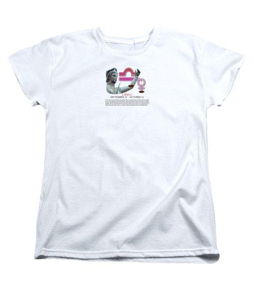 Libra Sun Sign Women's T-Shirt (Standard Cut) by Shelley Overton