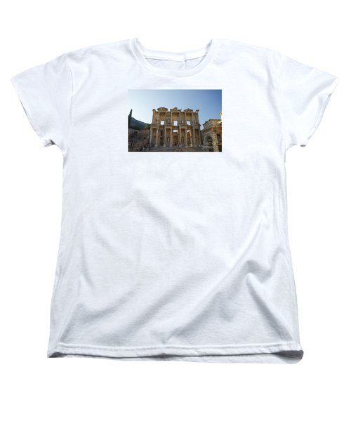 Women's T-Shirt (Standard Cut) featuring the photograph Library Of Ephesus Or Celsus by Yuri Santin