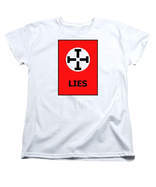 Lies Women's T-Shirt (Standard Cut) by Richard Reeve