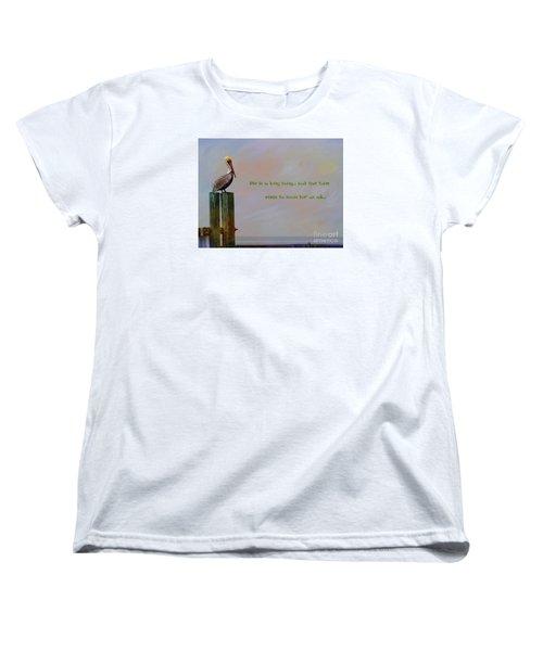 Life Is A Long Song Women's T-Shirt (Standard Cut) by John Kolenberg