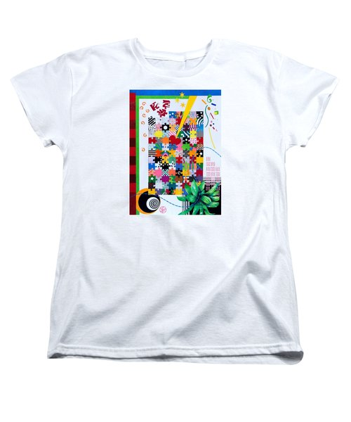 Life Is A Puzzle Women's T-Shirt (Standard Cut) by Thomas Gronowski