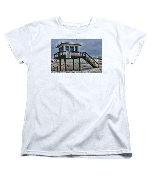 Women's T-Shirt (Standard Cut) featuring the photograph Lifeguard Station 1 by Paul Ward