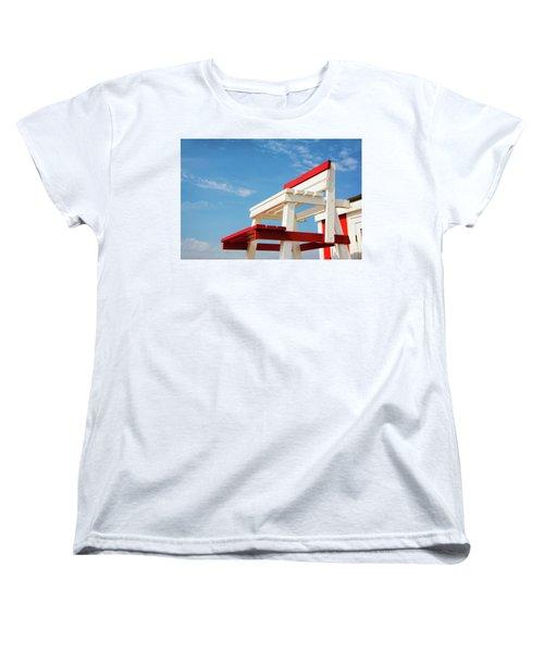 Lifeguard Station Women's T-Shirt (Standard Cut) by Marion McCristall